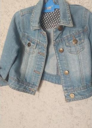 Джинсовый пиджак для модницы