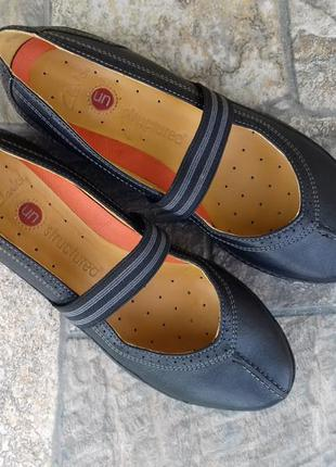 Женские туфли clarks unstructured - 37 р. кожаные балетки оригинал