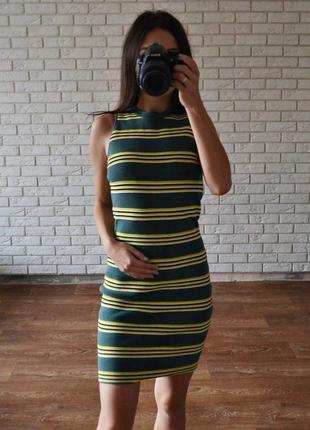 Стильное теплое платье в обтяжку topshop