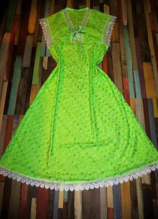 Шикарное домашнее длинное платье
