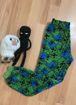 Пижамные штаны майнкрафт, домашние штаны майнкрафт, штаны для дома майнкрафт