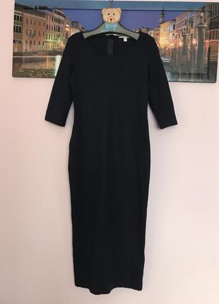 Невероятное длинное платье с замком сзади , платье миди , платье туника , футляр