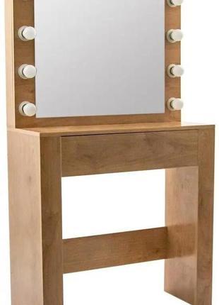 Столик косметический с подсветкой bonro b070 сонома(20000027)