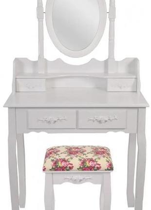 Косметический столик bonro-в-011 (красная табуретка) (20000032)