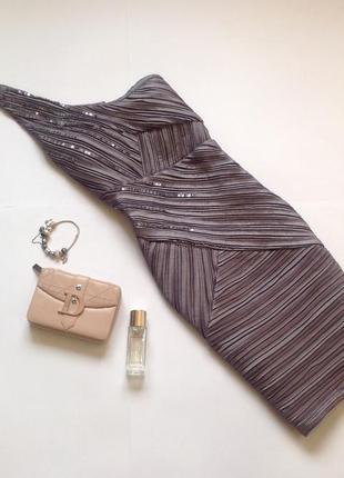 Вечернее нарядное платье на одно плечо. цвет металик. смотрите мои объявления!