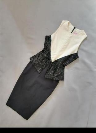 🟥 платье винтаж черно белое