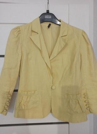 Льняной пиджак naf naf
