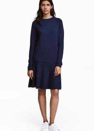 Новое теплое платье h&m, шерсть, размеры xs, s