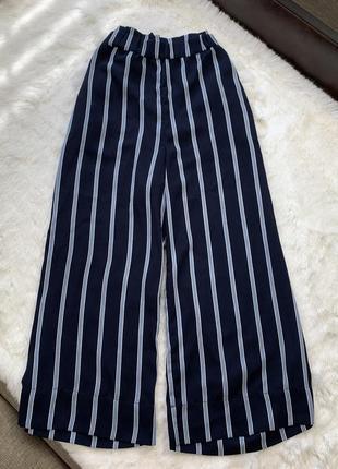 Полосатые штаны палаццо h&m zara mango