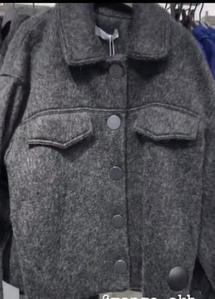 Куртка шерсть mango