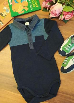 Модный бодик рубашка , человечик, песочник на 1,5-2 года.