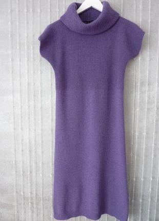 Теплое платье benetton, шерсть, ангора