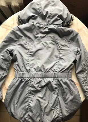 Демисезонная куртка парка на девочку фирмы i love next на возраст 7-8 лет5