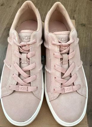 Оригинальные женские из замши розовые кроссовки ugg dinale sneaker