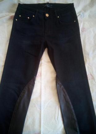 Черные джинсы со вставками под кожу amn amnesia madness national амн