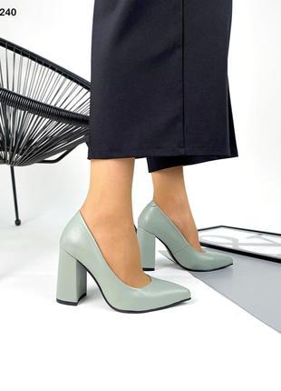 Туфли - lux на высоком каблуке кожаные