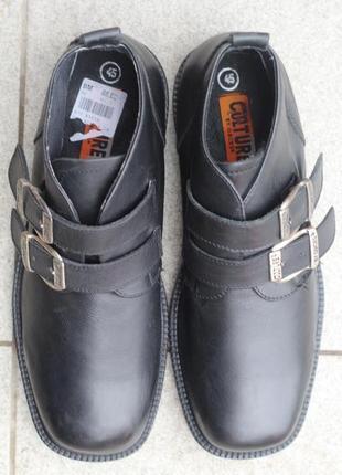 Шикарные кожаные ботинки , осенние туфли culture by orces