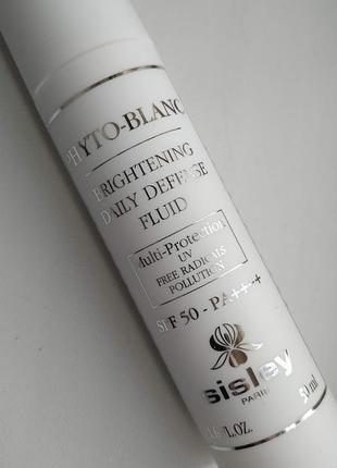 Осветляющий защитный флюид spf50- sisley phyto-blanc brightening daily defense fluid spf50