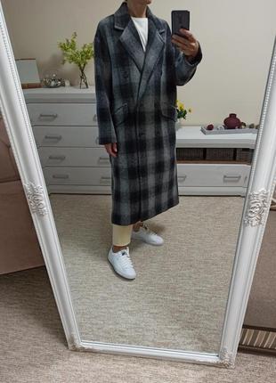 Суперстильное шерстяное пальто осень 🍂 - весна 🌿 zara 100% шерсть