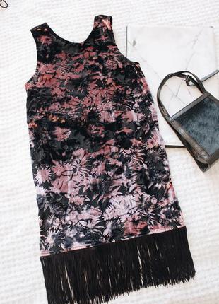 Бархатное платье - туника topshop