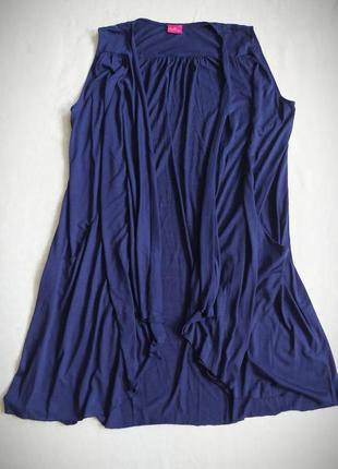 Накидка together кофта без рукавов синяя