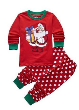 Пижама детская дед мороз новогодняя