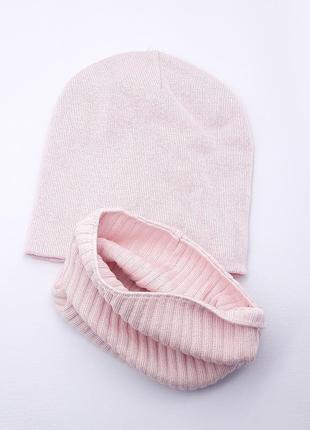 Шапочка демисезонная шапка хомут комплект