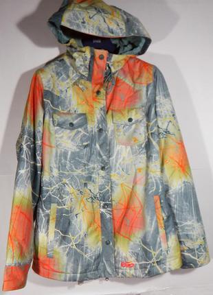 Спортивная зимняя куртка nike 6.0 women lg olivia bee bellevue orange snowboard ski jacket