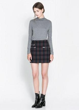 Новая юбка zara, зимняя теплая