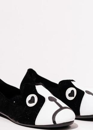 Неординарные черные женские балетки с мордочкой черные женские туфли с мордочкой демисезонные женские балетки из эко-замши женские туфли из эко-замши