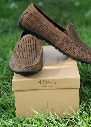 Мужские туфли мокасины из натурального замша