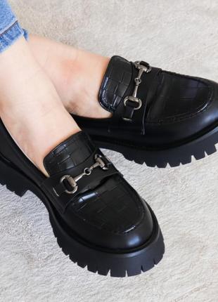 Женские броги черные 3181 туфли брогі туфлі