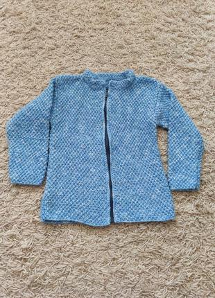 Теплий вязаний светр