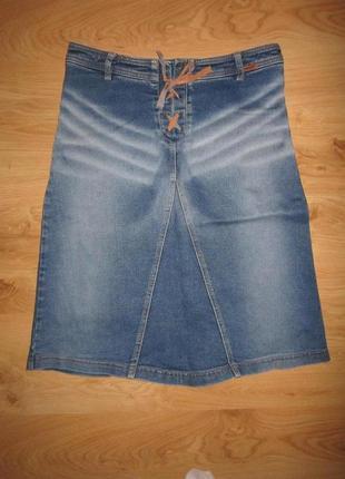 Джинсовая юбка 44-46 с-м размера
