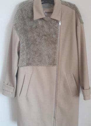 Пальто с искусственным мехом asos
