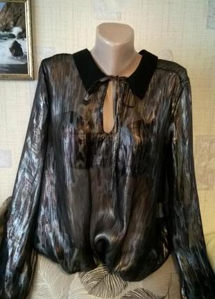 Нарядная шифоновая блуза большого размера