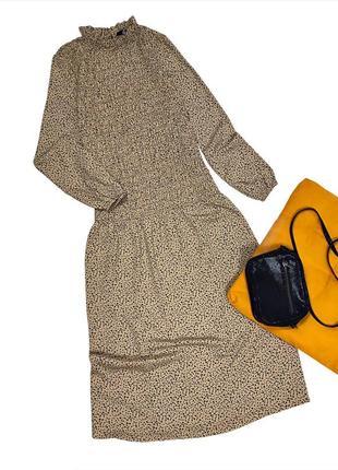 Трендовое платье резинка миди макси с рукавами