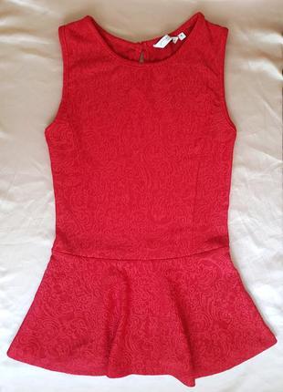 Блузка с баской/ кофта с баской размер s