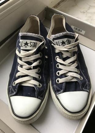Converse кеды конверс синие оригинал!