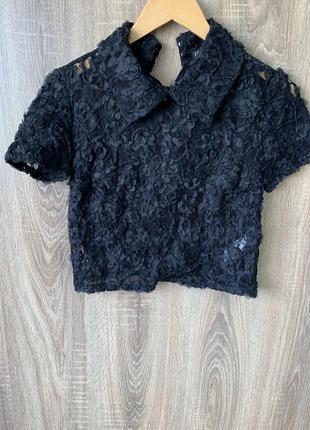 Блуза ажур зара