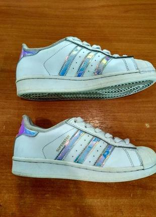 Кроссовки adidas superstar 35,5 p белые