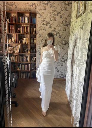 Белое платье рыбка
