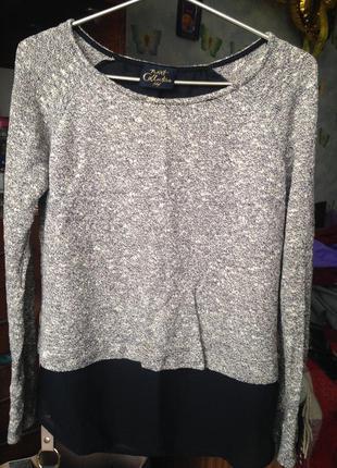 Кофта-блуза с шлейфом из шифона