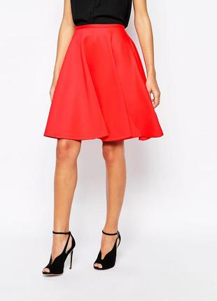 🌺тренд сезона шикарная юбка цвета гренадин из неопрена размер 4  ( 10 - 12 ) ted baker🌺