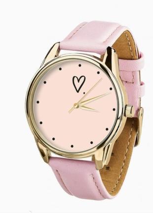Розовые часы , часы с сердечком , кварцевые часы , наручные часы
