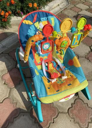 Музыкальное кресло качалка fisher price