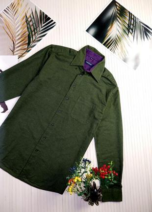 Мужская рубашка seidensticker фланелевая теплая байковая люкс сорочка brunello