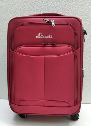 Тканевый чемодан omaska маленький  (красный)  21-08-006