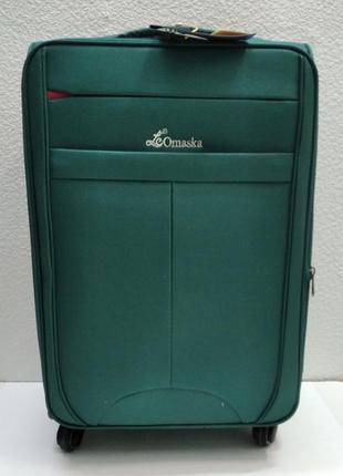 Тканевый чемодан omaska средний (бирюзовый) 21-08-008
