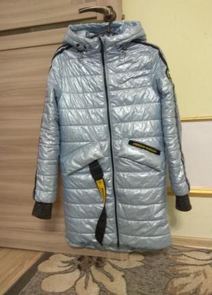 Детское подростковое демисезонное пальто аnernuo рост 160 см